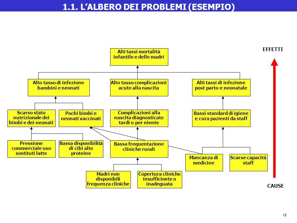 1.1. L'ALBERO DEI PROBLEMI (ESEMPIO)