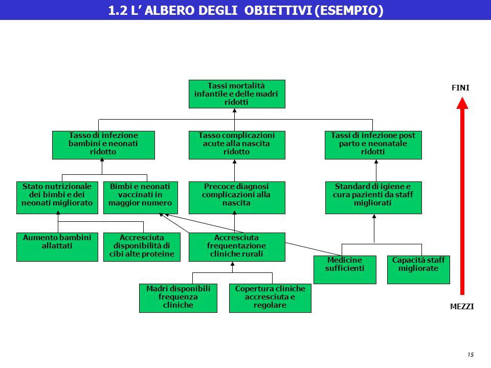 1.2 L' ALBERO DEGLI OBIETTIVI (ESEMPIO)