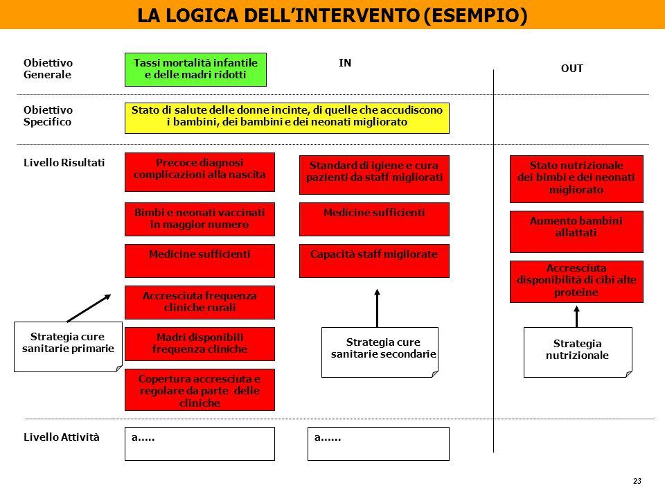 LA LOGICA DELL'INTERVENTO (ESEMPIO)
