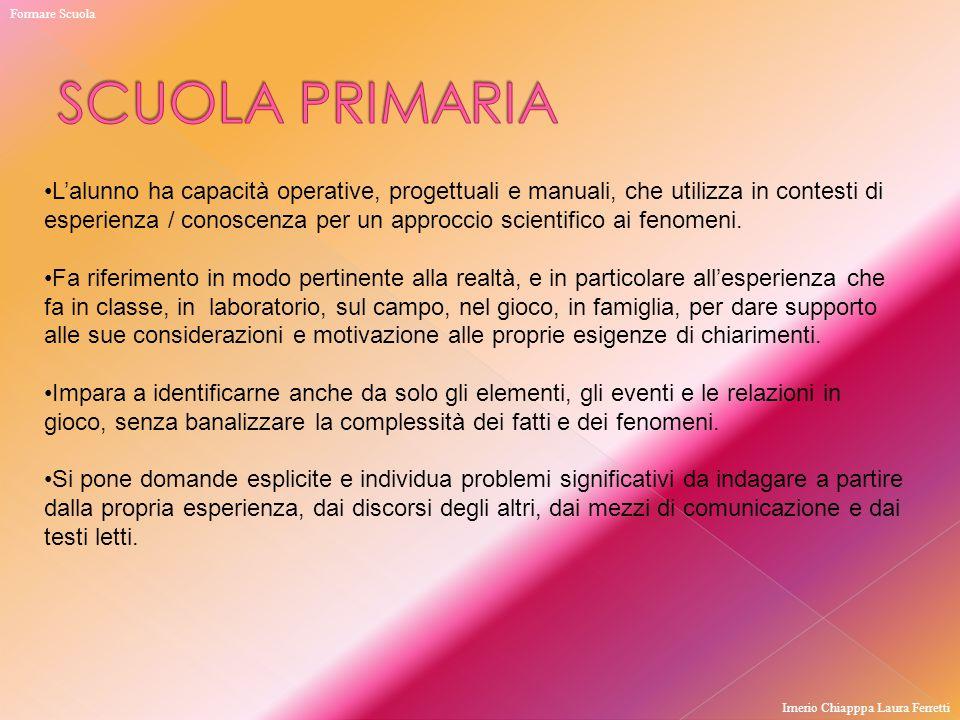 Formare Scuola SCUOLA PRIMARIA.