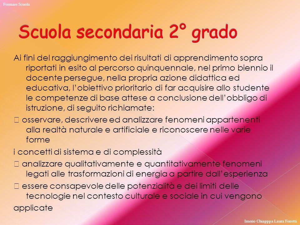 Scuola secondaria 2° grado