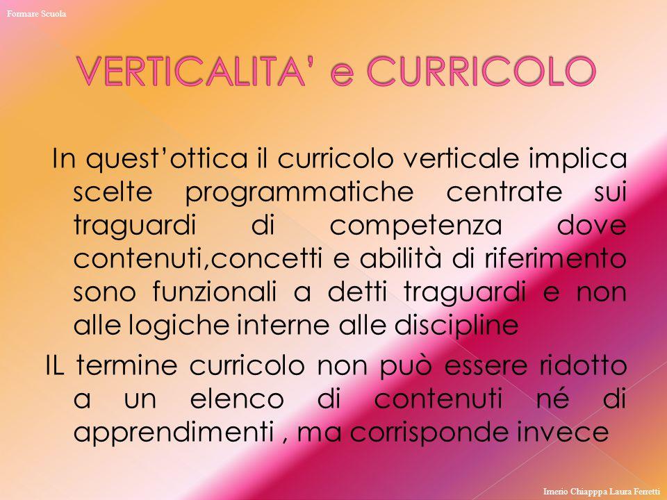 VERTICALITA' e CURRICOLO