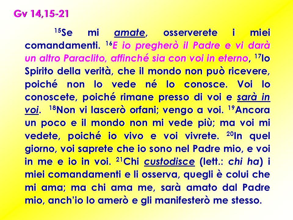 Gv 14,15-21