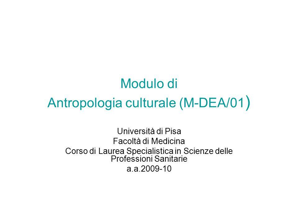 Modulo di Antropologia culturale (M-DEA/01)