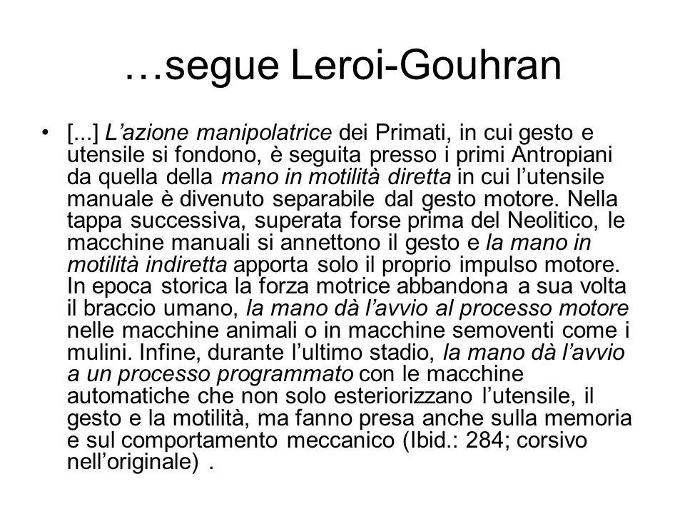 …segue Leroi-Gouhran