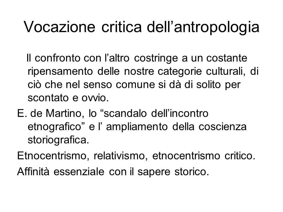 Vocazione critica dell'antropologia