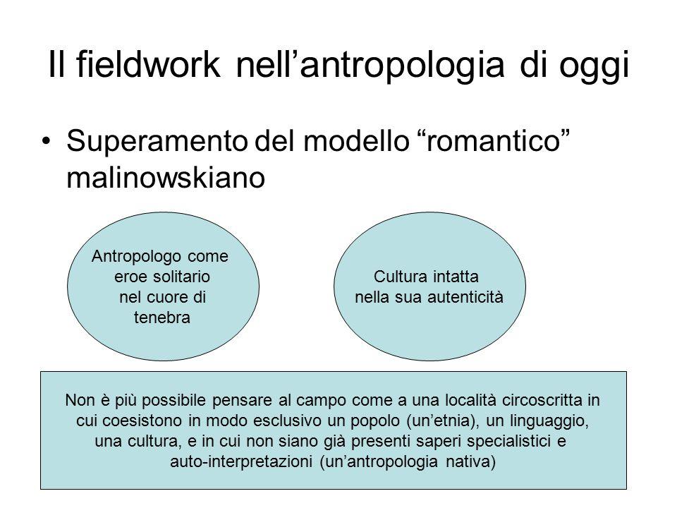 Il fieldwork nell'antropologia di oggi