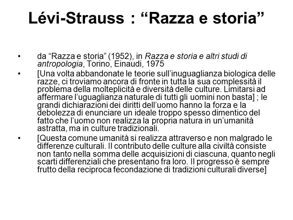 Lévi-Strauss : Razza e storia