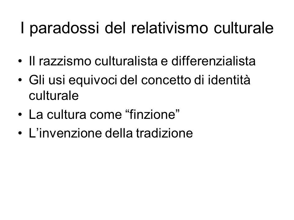 I paradossi del relativismo culturale