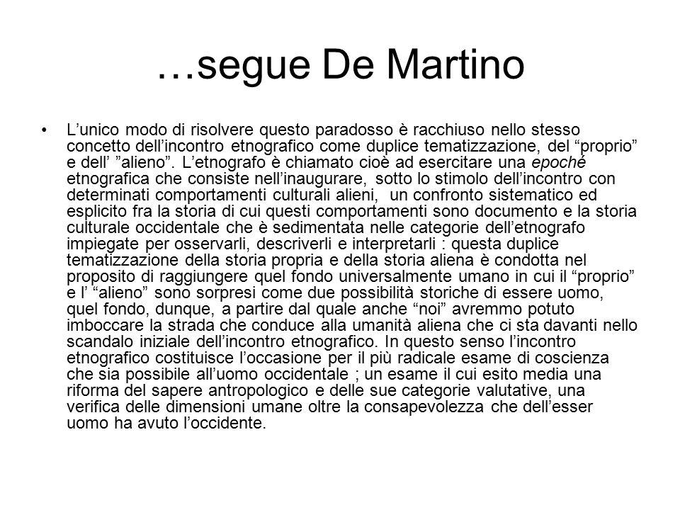 …segue De Martino
