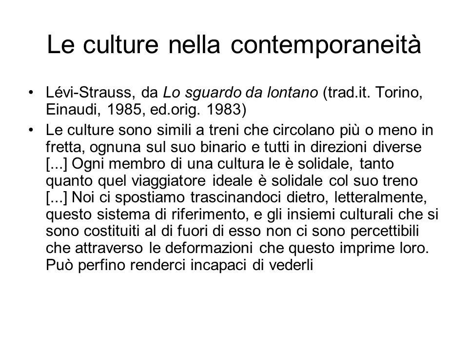 Le culture nella contemporaneità