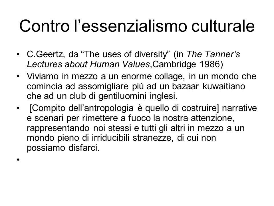 Contro l'essenzialismo culturale