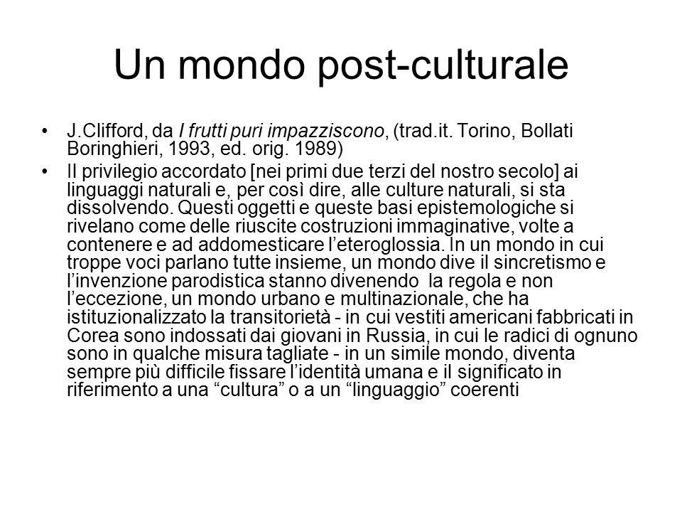Un mondo post-culturale