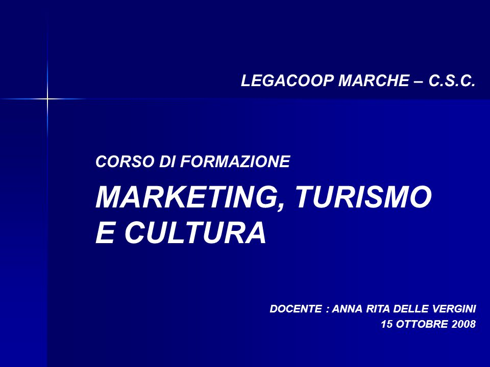 MARKETING, TURISMO E CULTURA