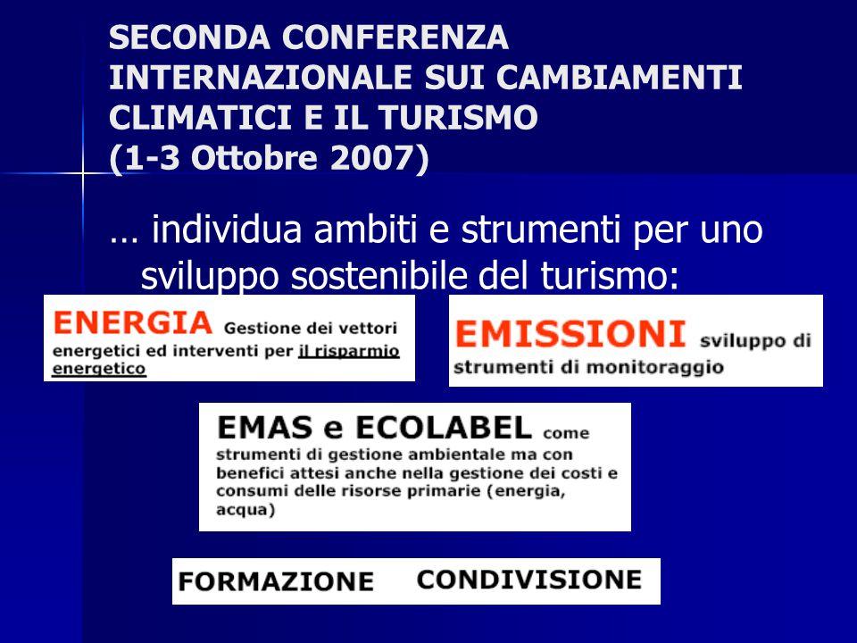 SECONDA CONFERENZA INTERNAZIONALE SUI CAMBIAMENTI CLIMATICI E IL TURISMO (1-3 Ottobre 2007)