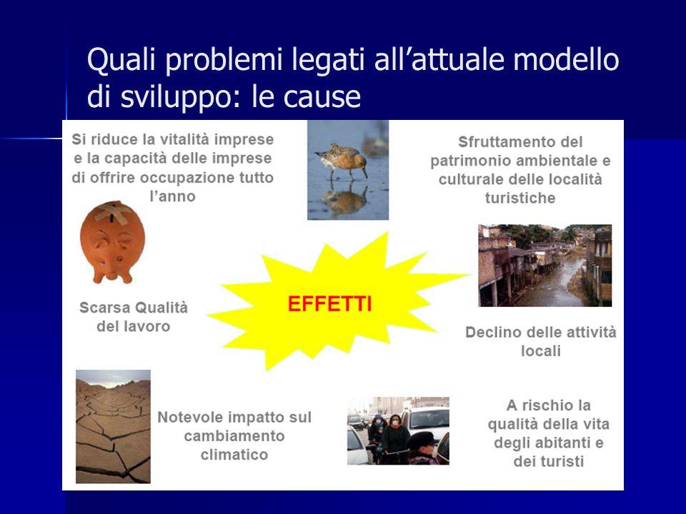 Quali problemi legati all'attuale modello di sviluppo: le cause