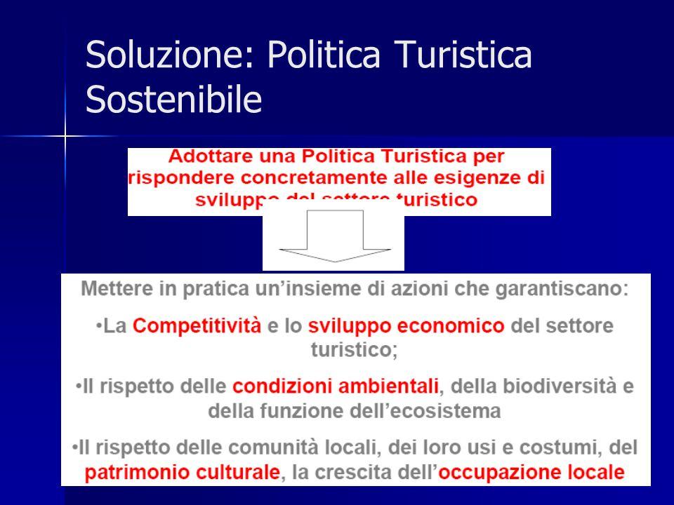 Soluzione: Politica Turistica Sostenibile