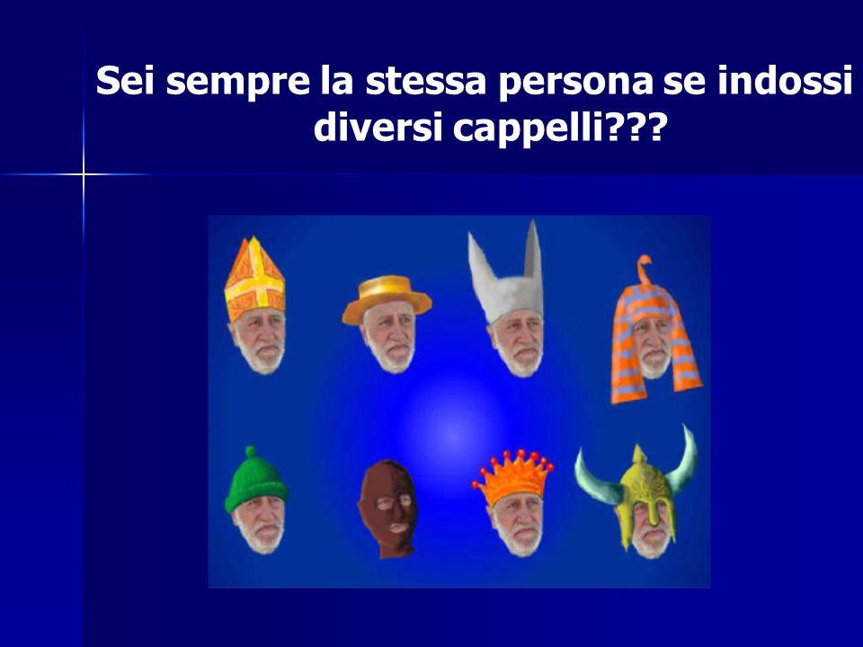 Sei sempre la stessa persona se indossi diversi cappelli