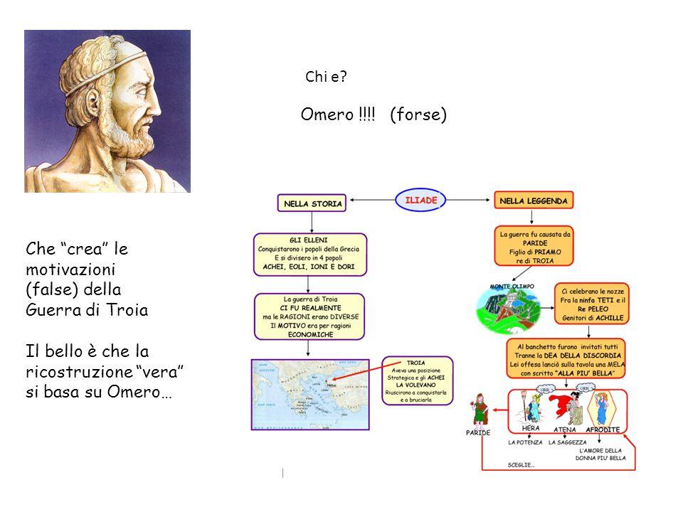 Chi e Omero !!!! (forse) Che crea le. motivazioni. (false) della. Guerra di Troia. Il bello è che la.