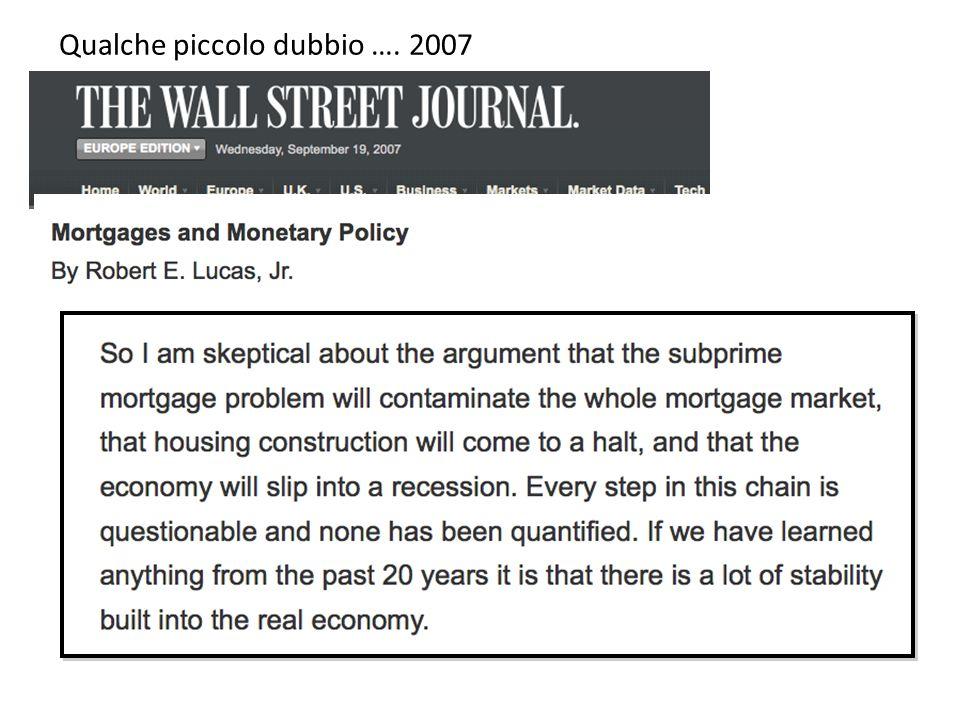 Qualche piccolo dubbio …. 2007