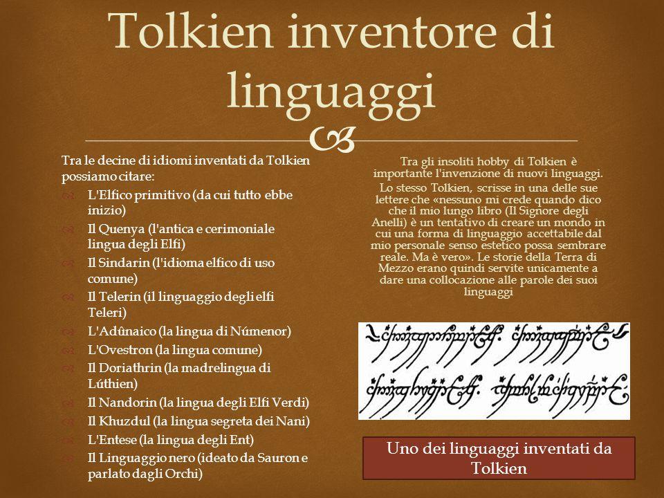 Tolkien inventore di linguaggi