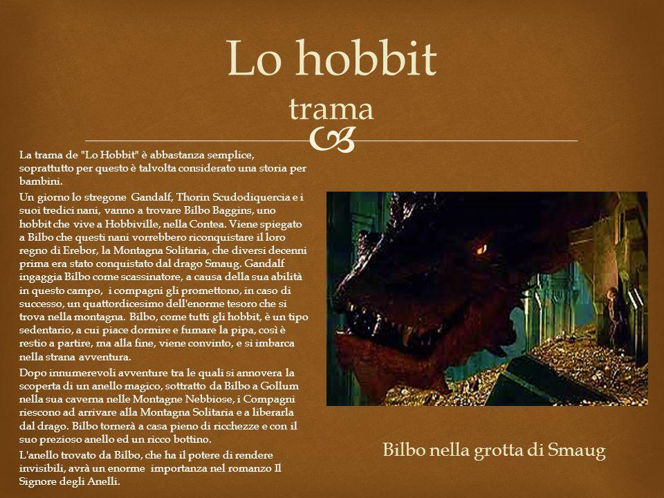 Bilbo nella grotta di Smaug