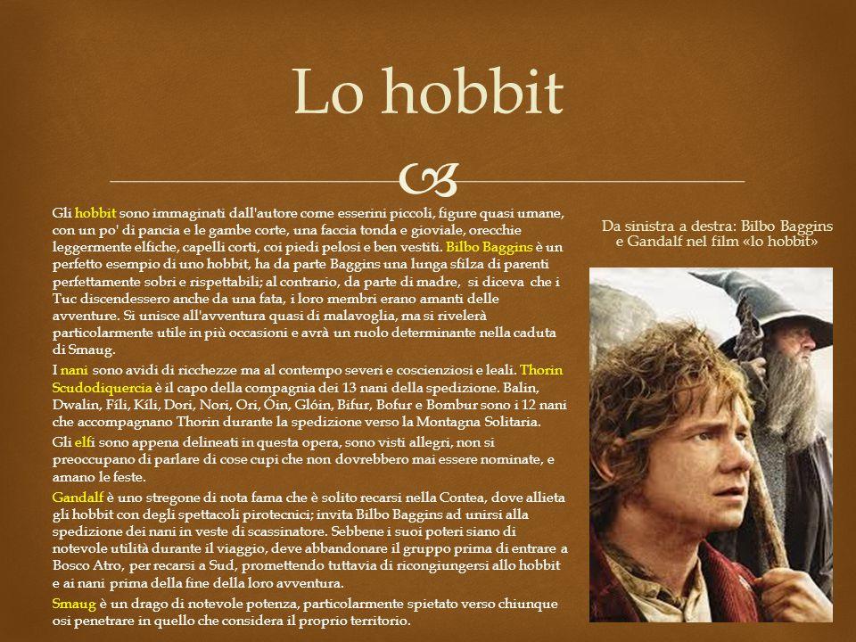 Da sinistra a destra: Bilbo Baggins e Gandalf nel film «lo hobbit»