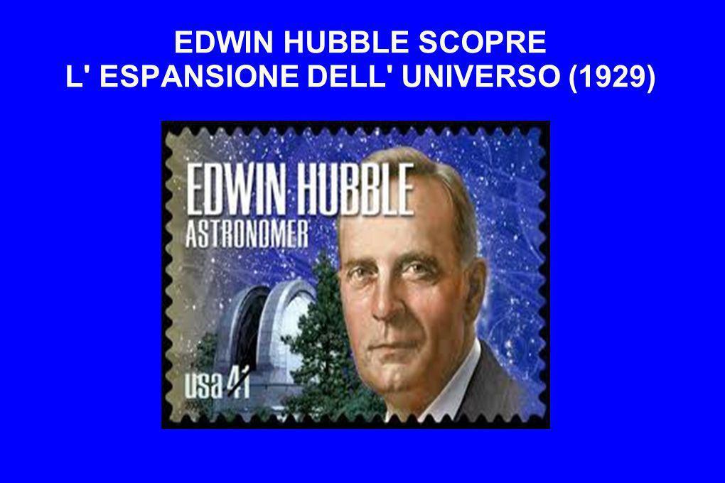 EDWIN HUBBLE SCOPRE L ESPANSIONE DELL UNIVERSO (1929)