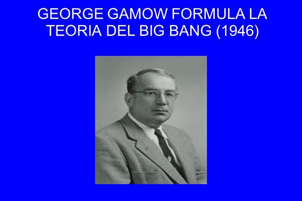 GEORGE GAMOW FORMULA LA TEORIA DEL BIG BANG (1946)