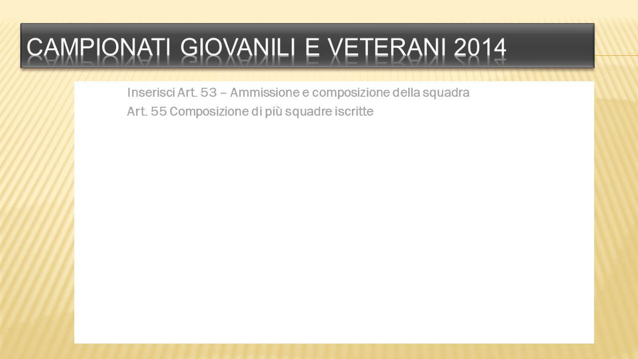 Campionati giovanili e veterani 2014