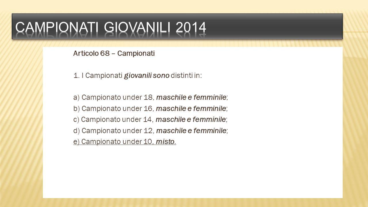 Campionati giovanili 2014
