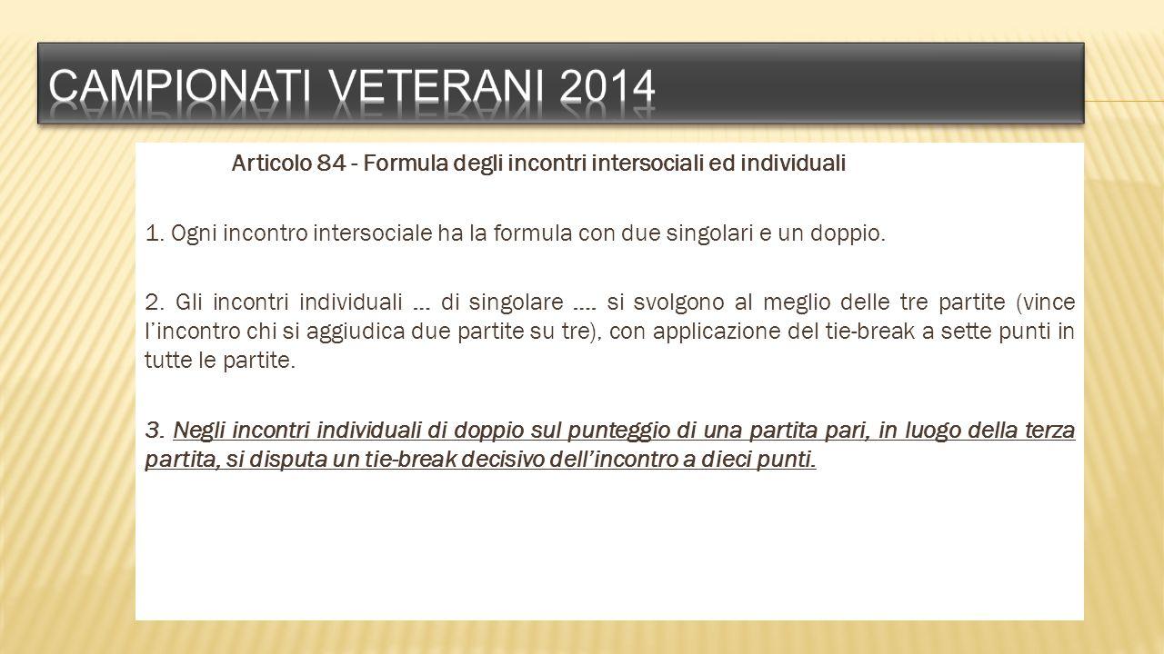Campionati veterani 2014
