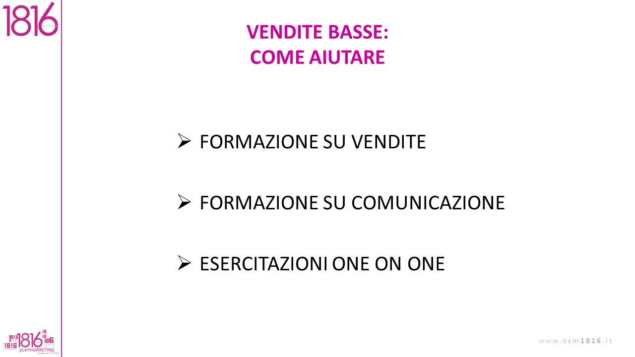 VENDITE BASSE: COME AIUTARE