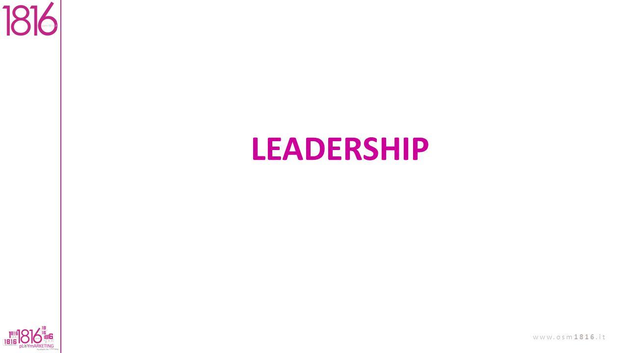 LEADERSHIP NON CONFONDIAMO LA LEADERSHIP CON LA GESTIONE.
