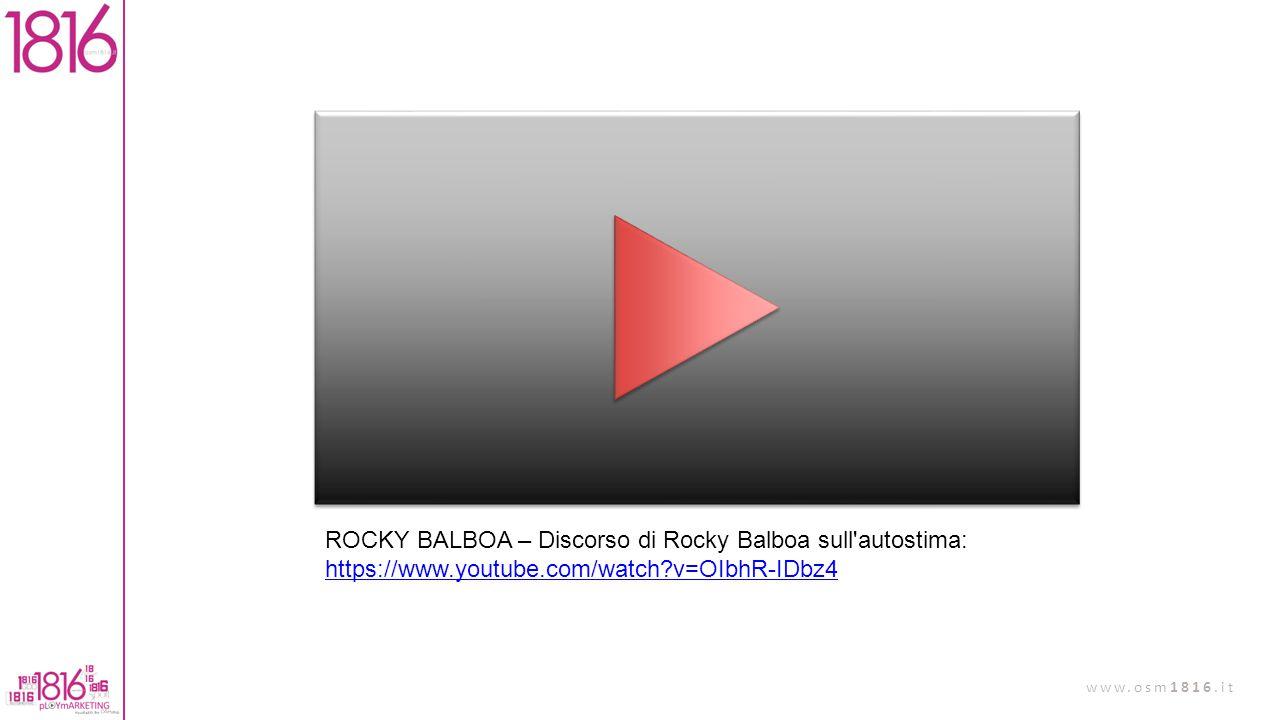 ROCKY BALBOA – Discorso di Rocky Balboa sull autostima: