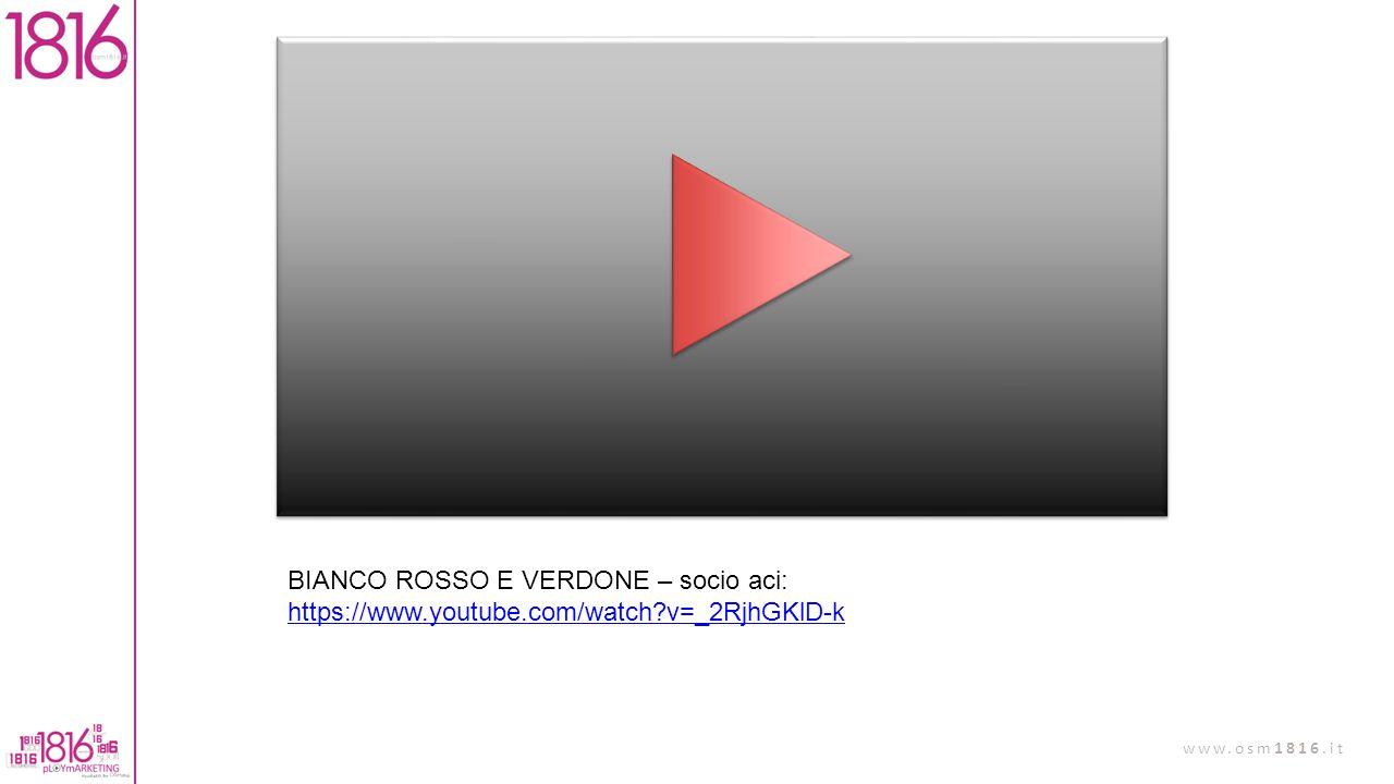 BIANCO ROSSO E VERDONE – socio aci: