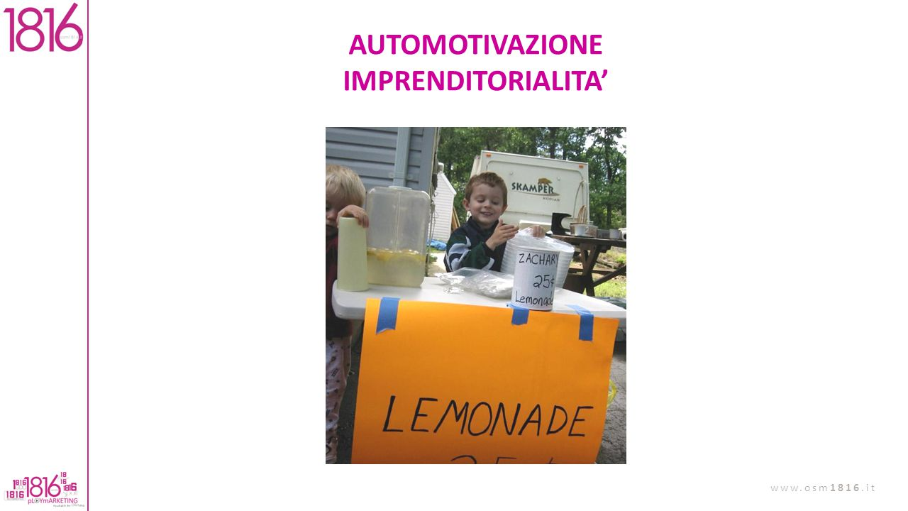 AUTOMOTIVAZIONE IMPRENDITORIALITA'