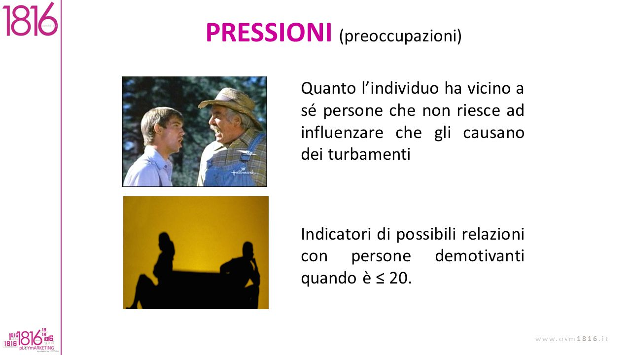 PRESSIONI (preoccupazioni)