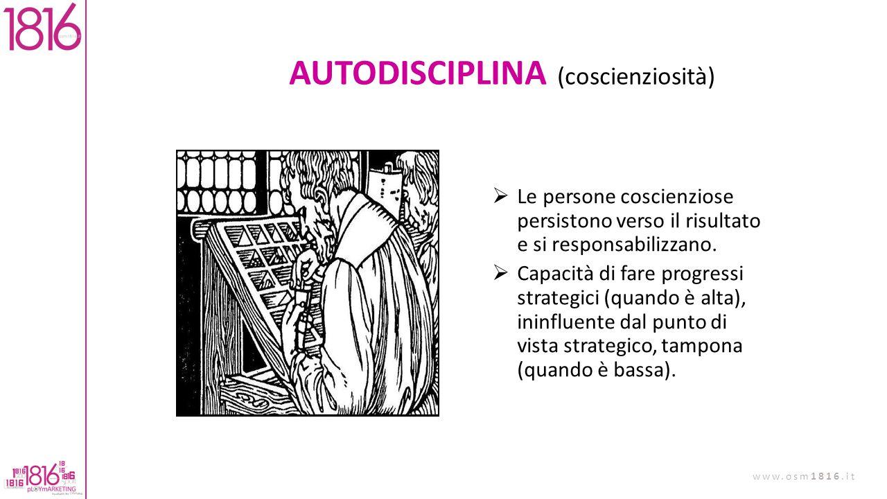 AUTODISCIPLINA (coscienziosità)