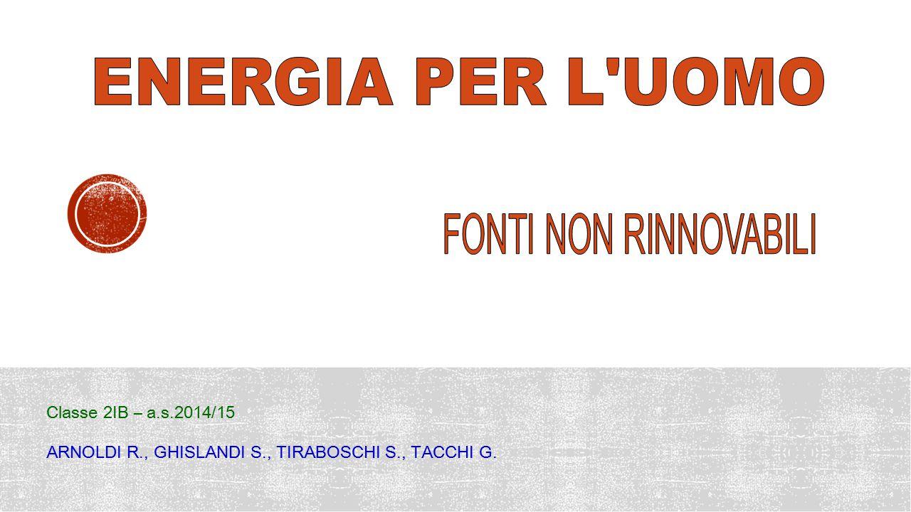 ENERGIA PER L UOMO FONTI NON RINNOVABILI Classe 2IB – a.s.2014/15