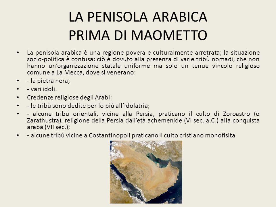 LA PENISOLA ARABICA PRIMA DI MAOMETTO