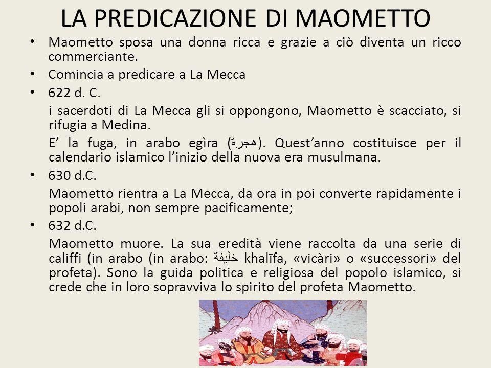 LA PREDICAZIONE DI MAOMETTO