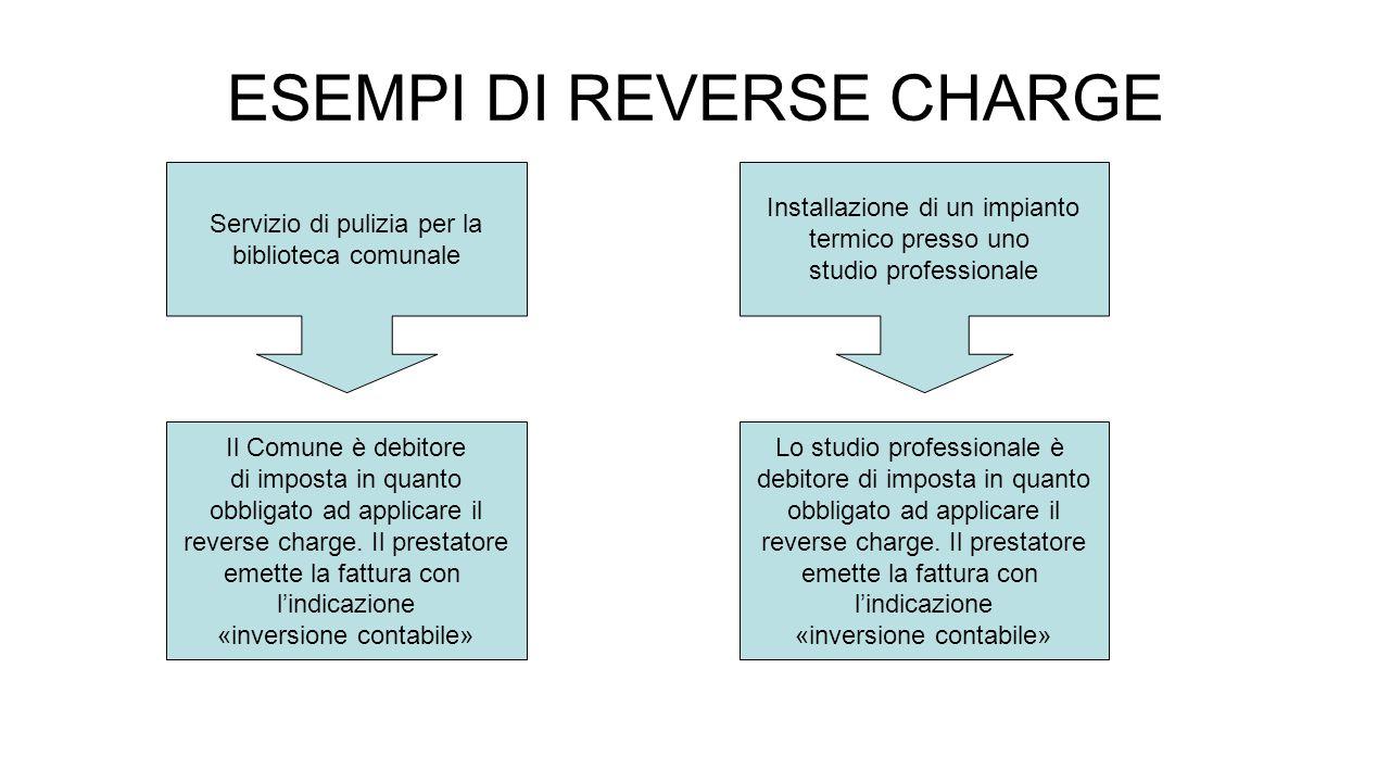 ESEMPI DI REVERSE CHARGE