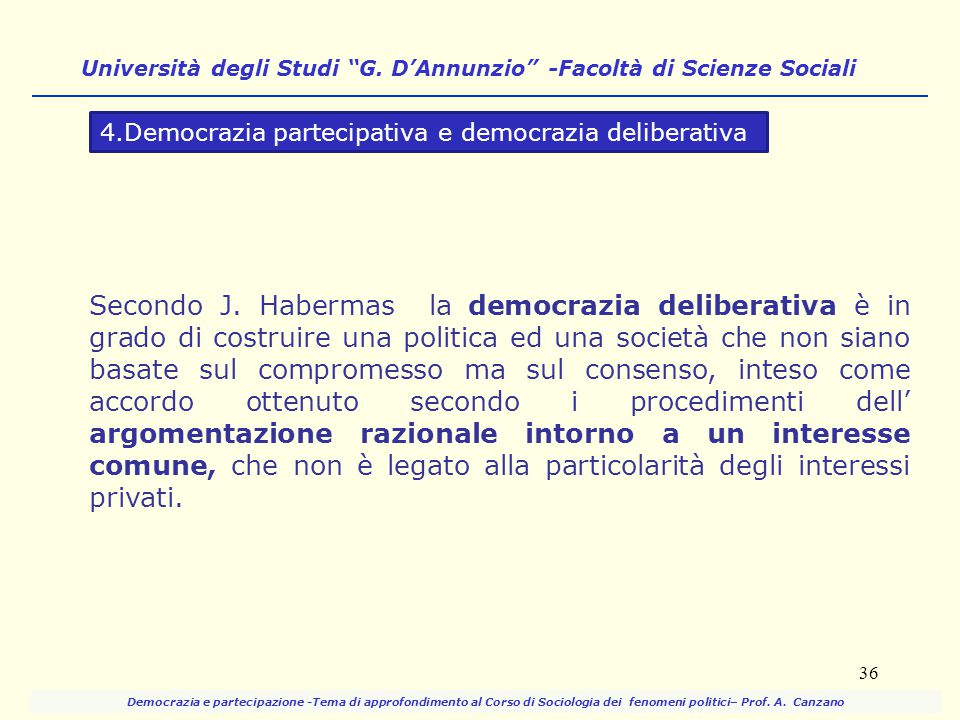 Università degli Studi G. D'Annunzio -Facoltà di Scienze Sociali
