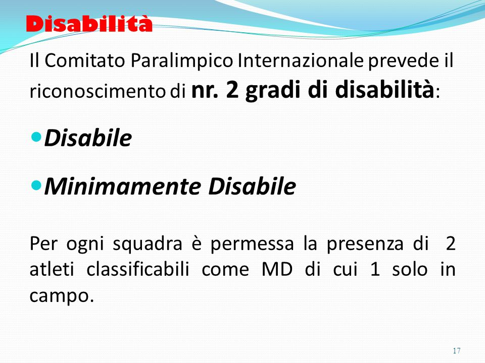 Disabile Minimamente Disabile Disabilità