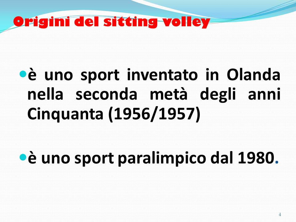 Origini del sitting volley