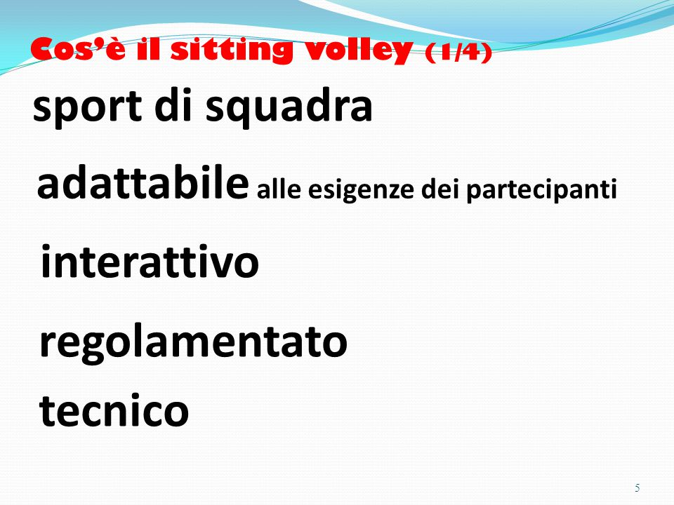 Cos'è il sitting volley (1/4)