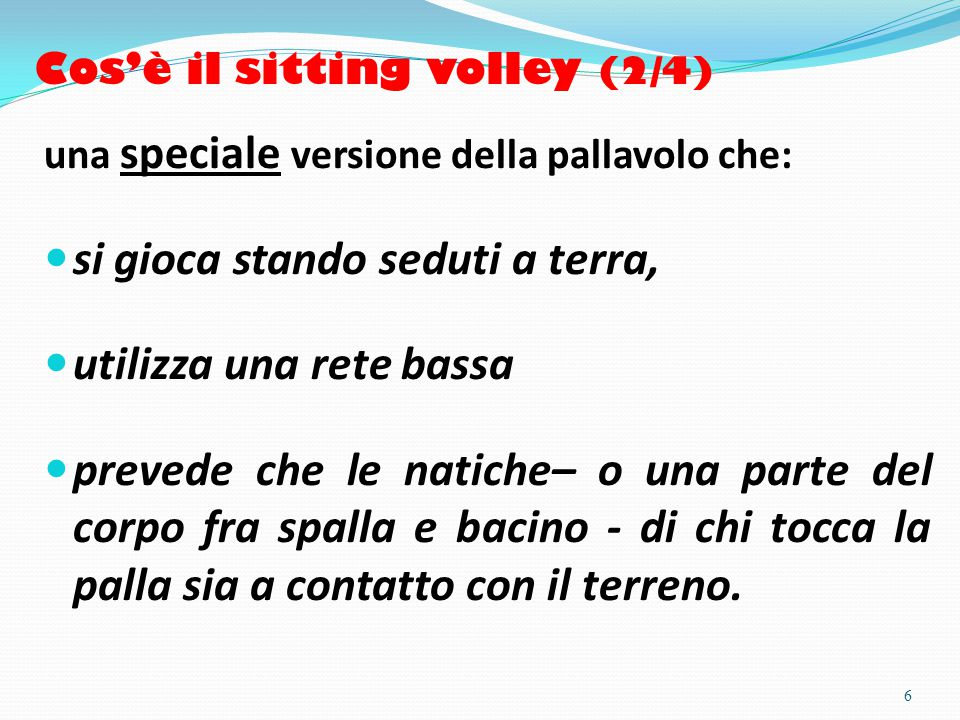 Cos'è il sitting volley (2/4)