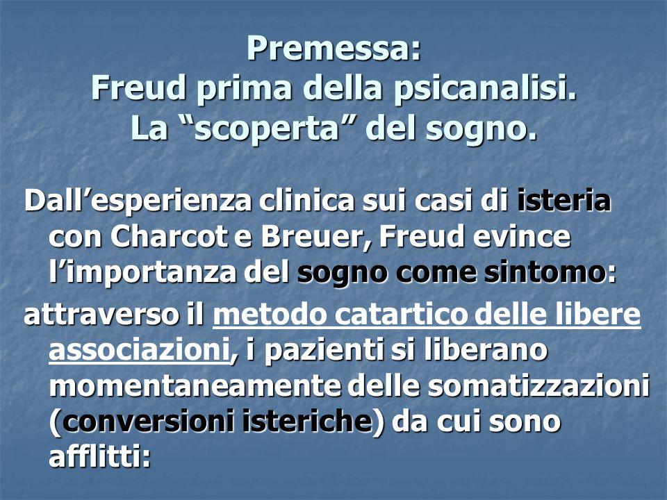 Premessa: Freud prima della psicanalisi. La scoperta del sogno.
