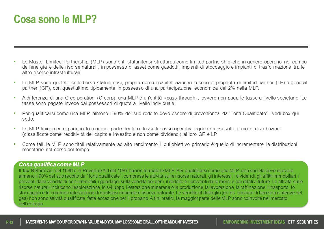 Cosa sono le MLP Cosa qualifica come MLP